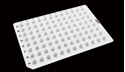 Picture of 0.2ml 96 Well PCR Plate,No Skirt,white 402011